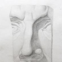 Декоративный натюрморт написанный на курсах живописи
